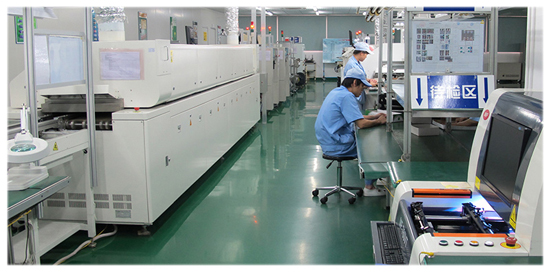 Hiteg assembly factory - solder paste screening